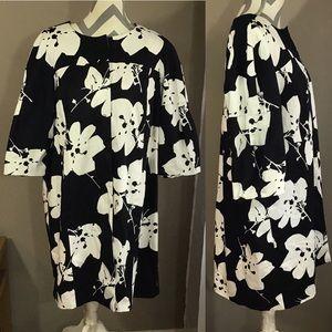 Black & White Floral Coat